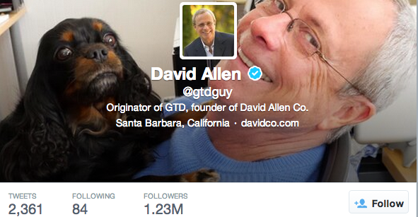 "David Allen Makes ""100 Experts on Twitter"" List"