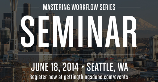 Early Registration Open – Mastering Workflow Seminar Seattle