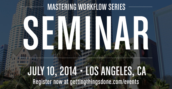 Early Registration Open – GTD Mastering Workflow Los Angeles