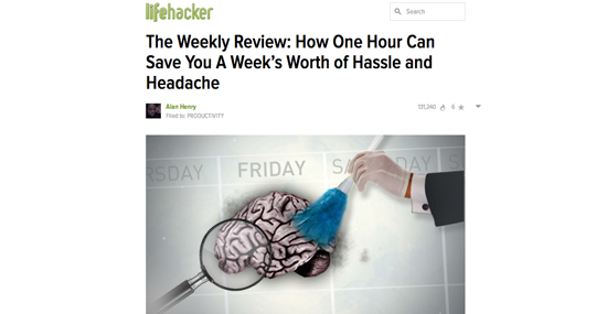 Lifehacker's Take on the Weekly Review