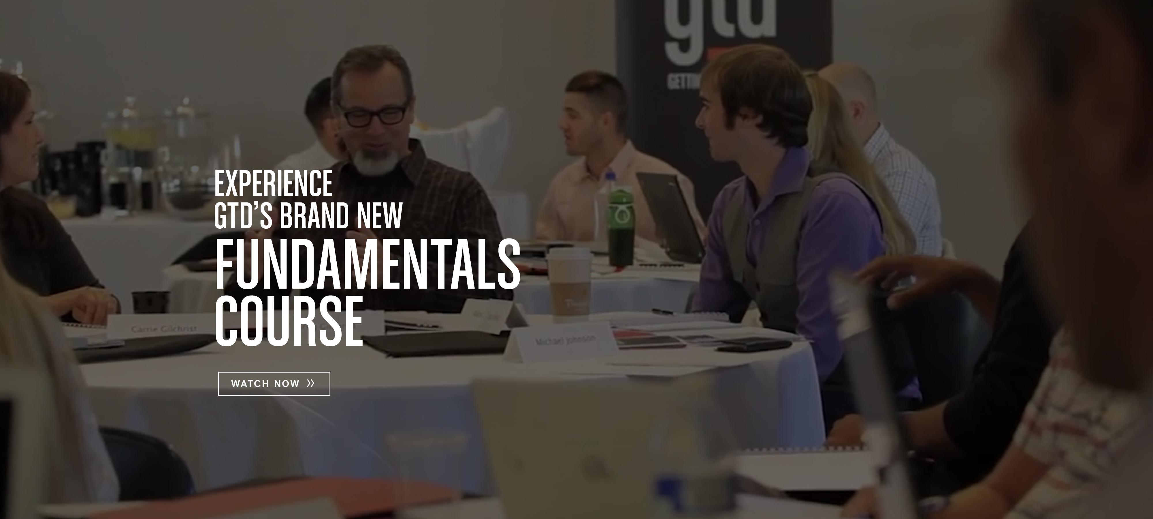 GTD Fundamentals Anthem Video Released