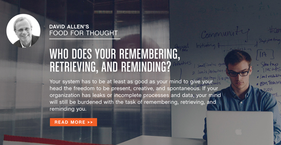 David Allen's Food For Thought – March 2015