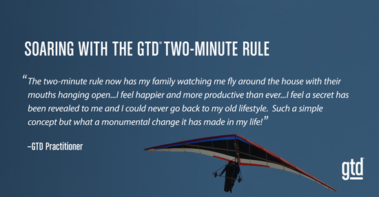 Soaring with the GTD Two-Minute Rule