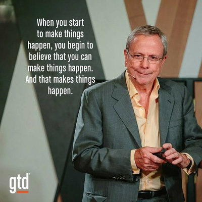 When you start to make things happen…