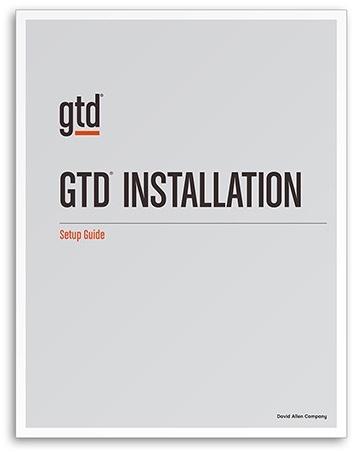 Get help installing GTD