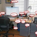 David Allen's workspace
