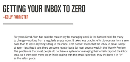 GTD Tips for Getting Your Inbox to Zero